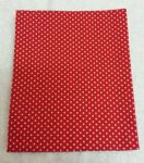 "RED POLKA DOT - 18"" x 22"" Fat Quarter"